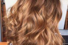 23 dark brown hair with caramel balayage