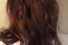 23 dark hair with chestnut hues looks warm and rich
