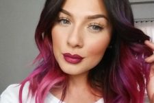 23 purple-pink-magenta ombre hair
