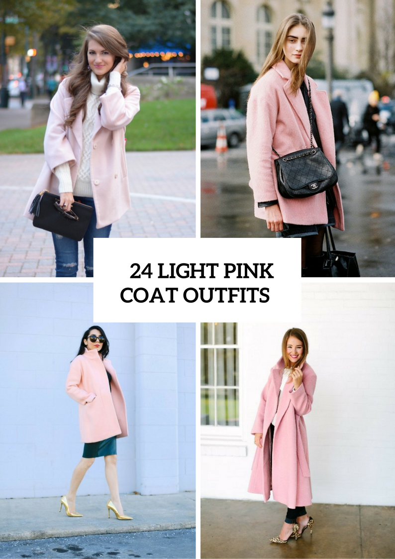 Gentle Light Pink Coat Outfits