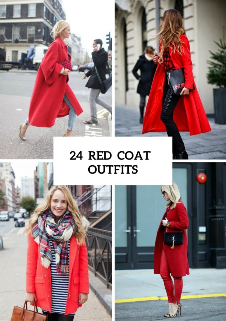 Gorgeous Red Coat Outfits To Recreate