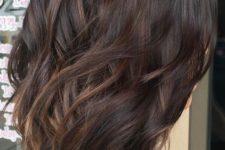 24 medium dark brown hair with subtle balayage
