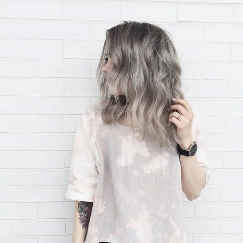 ombre grey hair from darker shades to lighter ones
