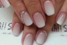 24 ombre nails with beading accents