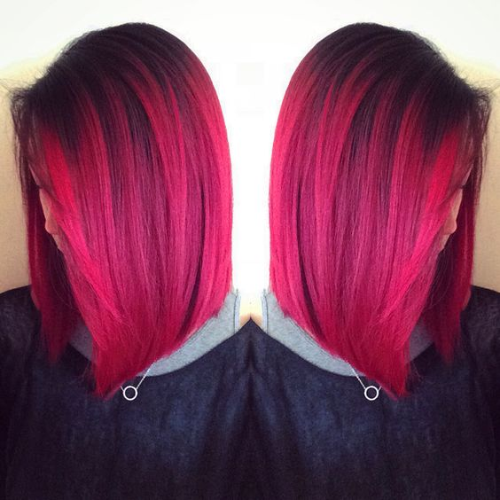 shadow root magenta and wild orchid pravanna haircolor