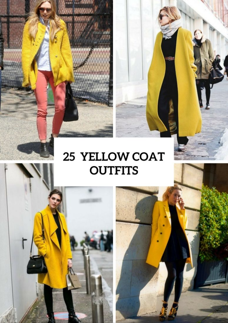 25 Stunning Yellow Coat Outfits For Fall
