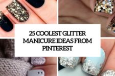 25 coolest glitter manicure ideas from pinterest cover