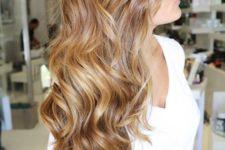 25 honey caramel highlights on light brown hair