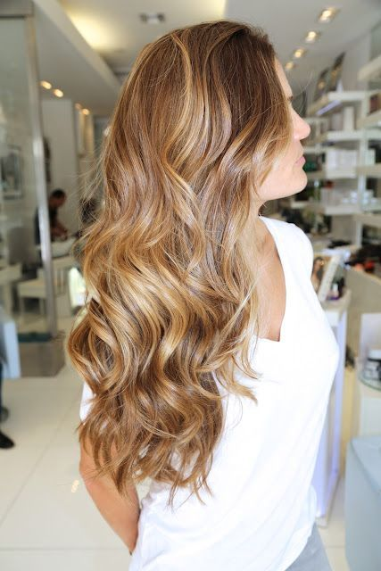 honey caramel highlights on light brown hair