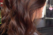 25 milk chocolate hair color with caramel highlights