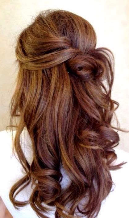 rich brown hair with chestnut highlights