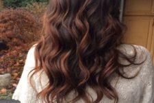 26 long light auburn on dark brown hair