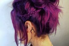 26 magenta and purple balayage hair