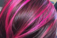 26 violet pink magenta peekaboo highlights