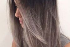 27 ombre hair from black to grey