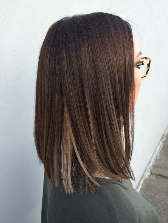 ombre brown hair, deep brown to light