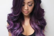 28 ombre hair from dark purple to light purple and lavender