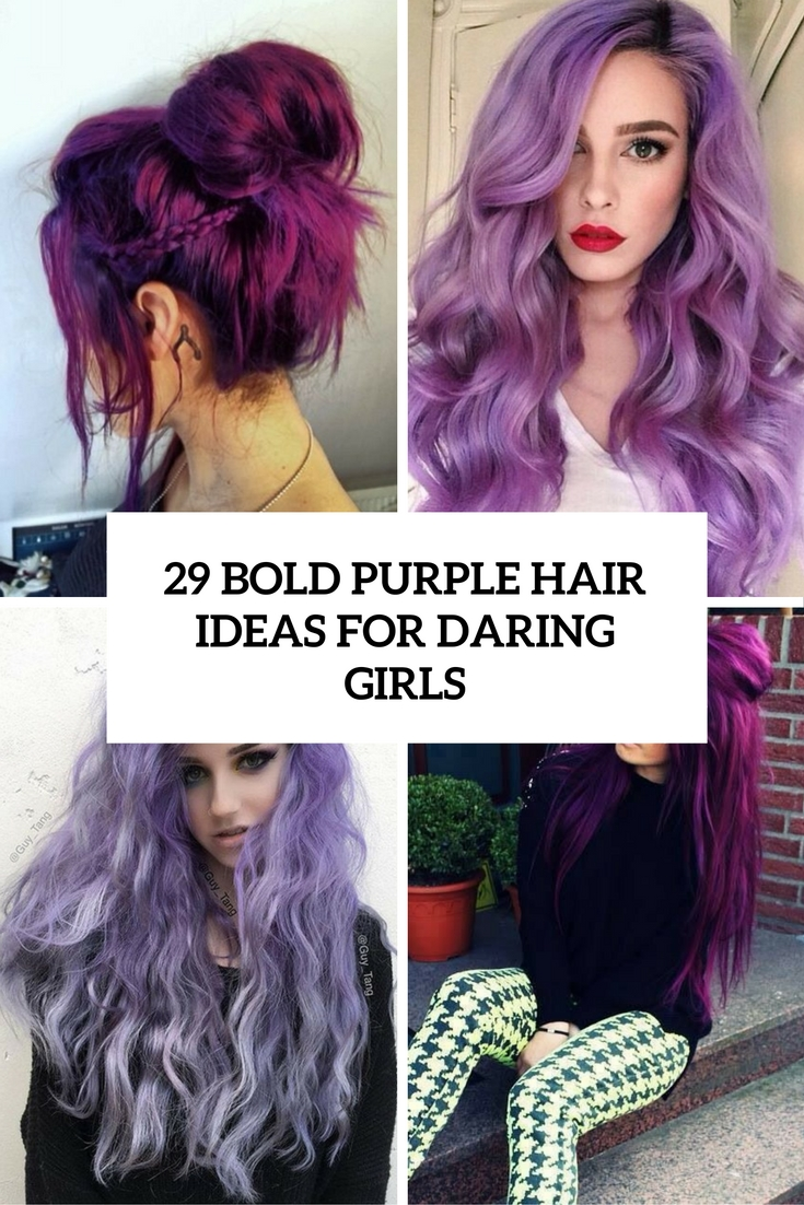 29 Bold Purple Hair Ideas For Daring Girls