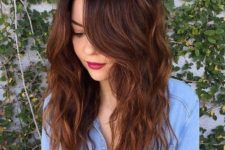 30 ombre hair with dark roots to chestnut brown