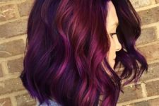 30 purple and magenta balayage hair