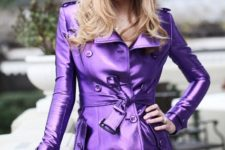 eye-catching coat outfit