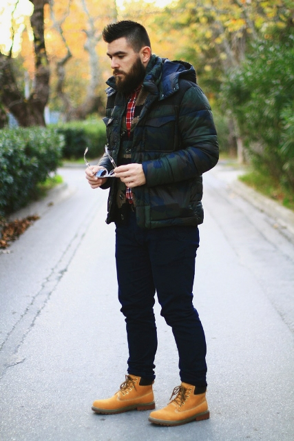 21 Fall And Winter Outfits With Timberland Boots For Men - Styleoholic