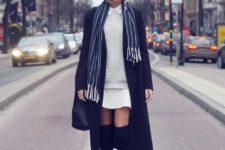 white sweater look