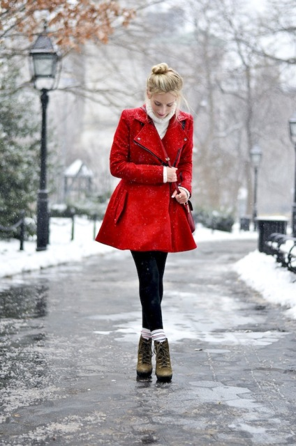 24 Gorgeous Red Coat Outfits To Recreate Styleoholic