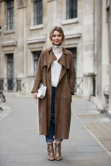 fall outfit with turtleneck