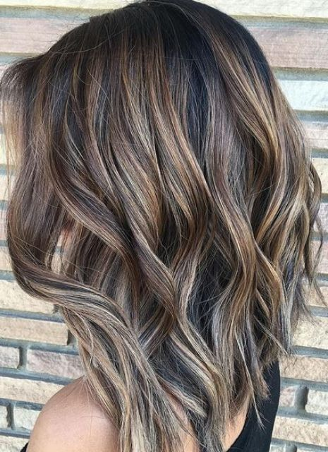 ashy brunette ombre highlights