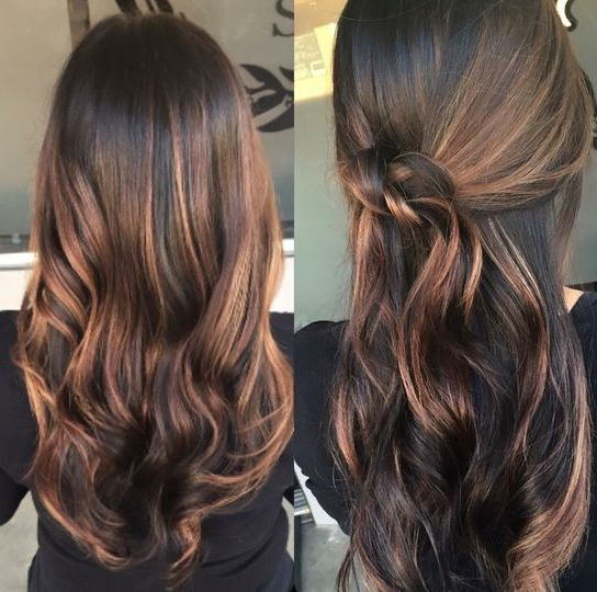 balayage highlights on dark brown hair balayage with. Black Bedroom Furniture Sets. Home Design Ideas