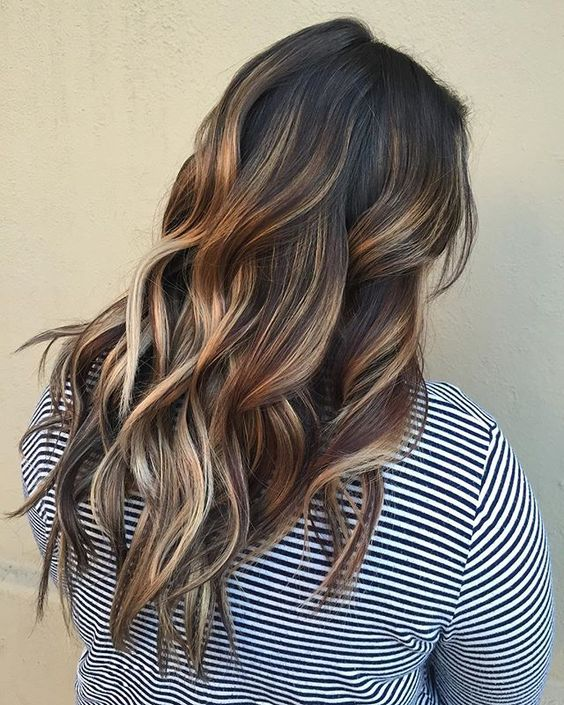 Light Brown Highlights With Dark Brown Hair Hairs Picture Gallery