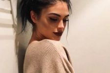02 messy top knot for long hair