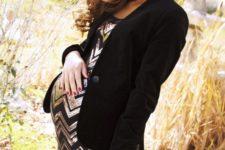 03 a sequin copper and black dress, a velvet blazer