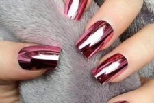 03 bold rose chrome nails for a bold look