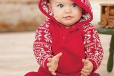 04 red Scandinavian-inspired patterned pyjamas