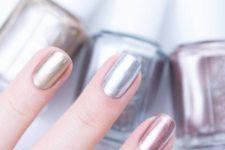 natural metallic nails
