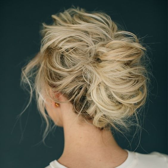 messy airy updo looks chic