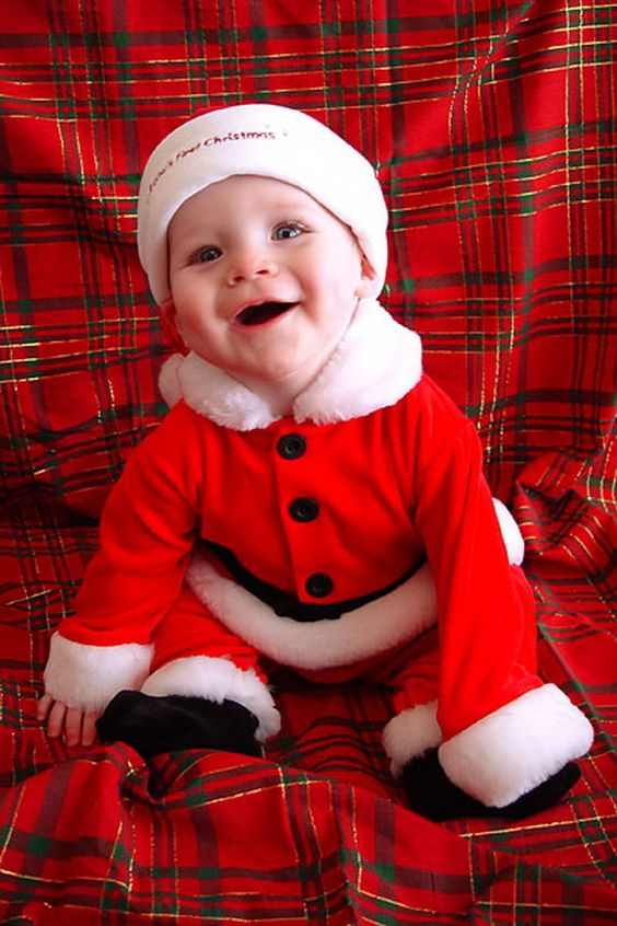 dress him like a Santa Claus for fun