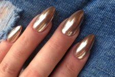 07 long and sharp chrome nails