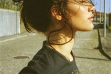 07 messy bun is ideal for any hair length