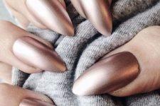 08 long matte chrome nails