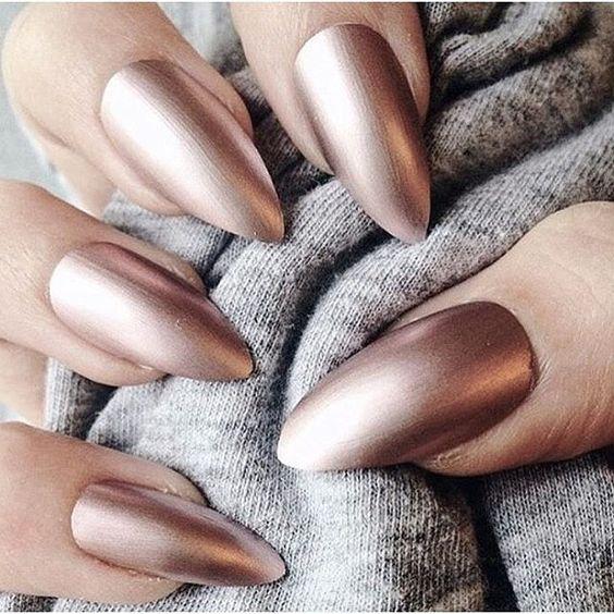 long matte chrome nails