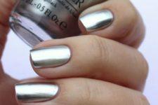 09 matte silver nails