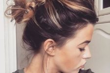 09 messy double knot updo