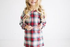09 plaid dress with black tights and grey boots