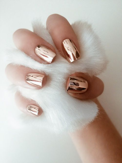 stylish copper nails fit any outfit