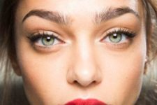 14 fresh face and red lips
