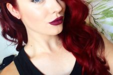 14 red hair with beach waves looks very sexy
