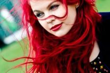 15 messy brilliant bright red hair
